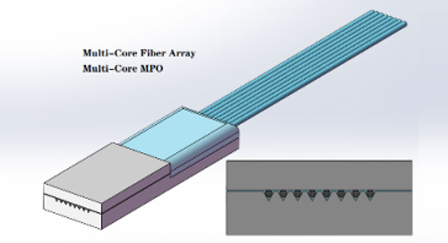 MCF Fiber Array